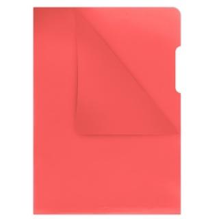 Obwoluta DONAU typu L, PP, A4, krystal, 180mikr., czerwona, Koszulki i obwoluty, Archiwizacja dokumentów