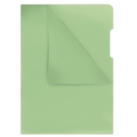 L-Shaped Pockets DONAU, type L, PP, A4, cristal, 180 micron, green