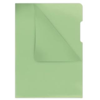 Obwoluta DONAU typu L, PP, A4, krystal, 180mikr., zielona, Koszulki i obwoluty, Archiwizacja dokumentów