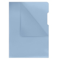 L-Shaped Pockets DONAU, type L, PP, A4, cristal, 180 micron, blue