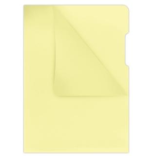 Obwoluta DONAU typu L, PP, A4, krystal, 180mikr., żółta, Koszulki i obwoluty, Archiwizacja dokumentów
