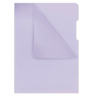 Obwoluta DONAU typu L, PP, A4, krystal, 180mikr., fioletowa, Koszulki i obwoluty, Archiwizacja dokumentów