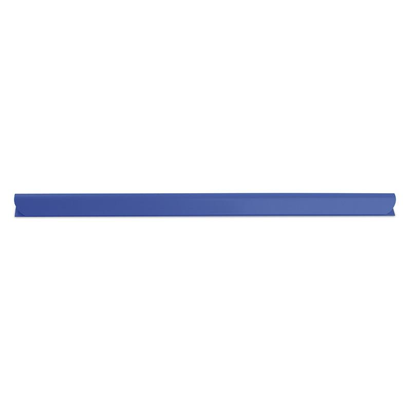 Listwa zaciskająca DONAU, PVC, A4, 6mm, do 60 kartek, niebieska, Listwy zaciskające i samoprzylepne, Archiwizacja dokumentów