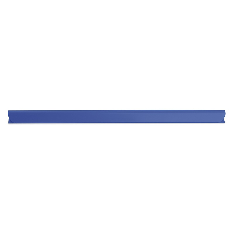 Listwa zaciskająca DONAU, PVC, A4, 8mm, do 80 kartek, niebieska, Listwy zaciskające i samoprzylepne, Archiwizacja dokumentów