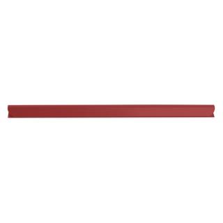 Listwa zaciskająca DONAU, PVC, A4, 10mm, do 100 kartek, czerwona, Listwy zaciskające i samoprzylepne, Archiwizacja dokumentów