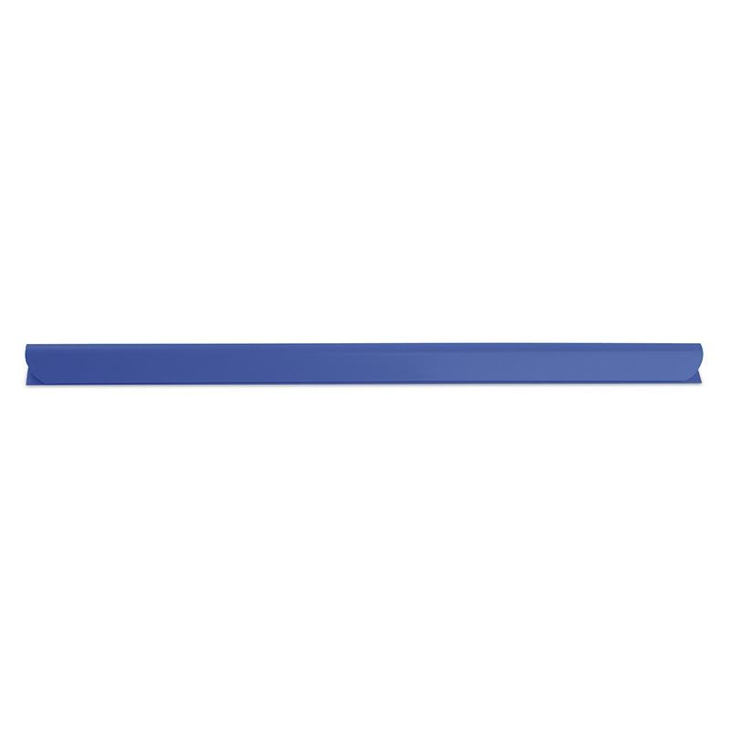 Listwa zaciskająca DONAU, PVC, A4, 10mm, do 100 kartek, niebieska, Listwy zaciskające i samoprzylepne, Archiwizacja dokumentów