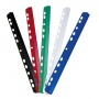 Slidebinder Clip DONAU, PVC, A4, 6mm, up to 60 sheets, multipunched, red