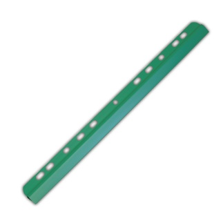 Listwa zaciskająca DONAU, PVC, A4, 6mm, do 60 kartek, z europerforacją, zielona, Listwy zaciskające i samoprzylepne, Archiwizacja dokumentów
