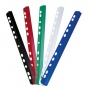 Slidebinder Clip PVC A4 6mm up to 60 sheets multipunched white