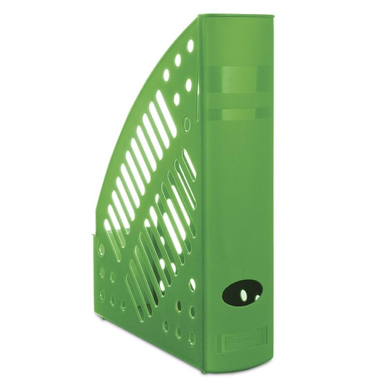 Pojemnik na dokumenty ażurowy DONAU, polistyren, A4, zielony, Pojemniki na dokumenty i czasopisma, Archiwizacja dokumentów