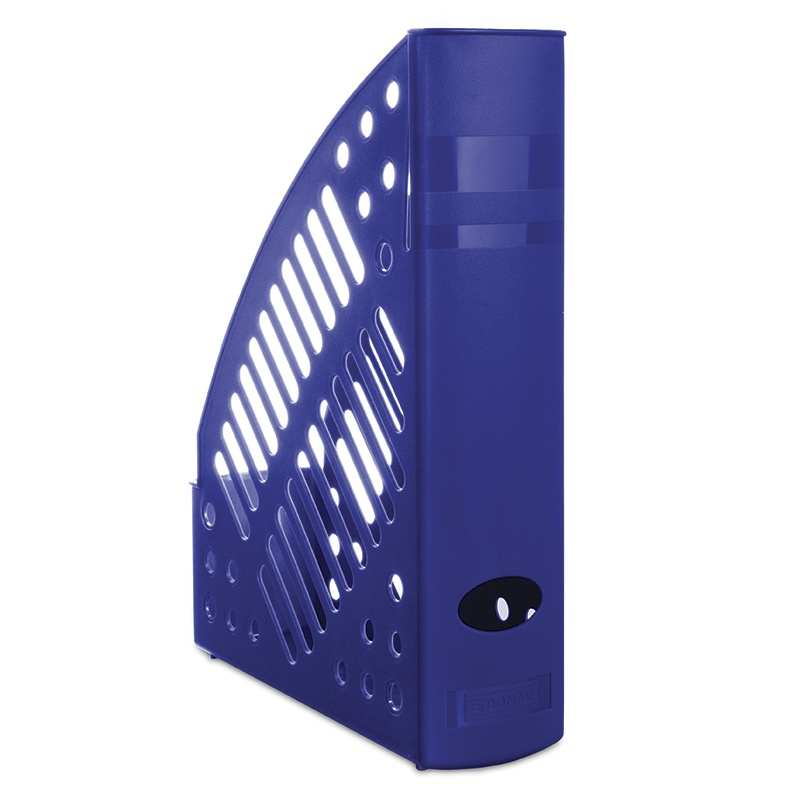 Mesh Magazine File Rack DONAU, polystyrene, A4, blue