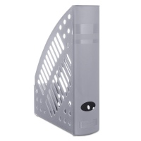 Mesh Magazine File Rack polystyrene A4 grey