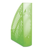 Mesh Magazine File Rack polystyrene A4 transparent green