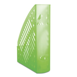 Pojemnik na dokumenty ażurowy DONAU, polistyren, A4, transparentny zielony, Pojemniki na dokumenty i czasopisma, Archiwizacja dokumentów