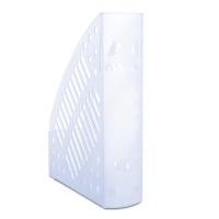 Mesh Magazine File Rack polystyrene A4 transparent blue