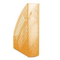 Pojemnik na dokumenty ażurowy DONAU, polistyren, A4, transparentny pomarańczowy