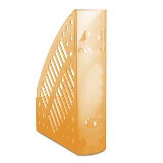 Pojemnik na dokumenty ażurowy DONAU, polistyren, A4, transparentny pomarańczowy, Pojemniki na dokumenty i czasopisma, Archiwizacja dokumentów