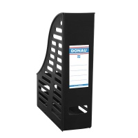 Mesh Magazine File Rack DONAU, PP, A4, foldable, black