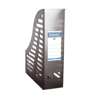 Pojemnik ażurowy na dokumenty DONAU, PP, A4, składany, dymny, Pojemniki na dokumenty i czasopisma, Archiwizacja dokumentów