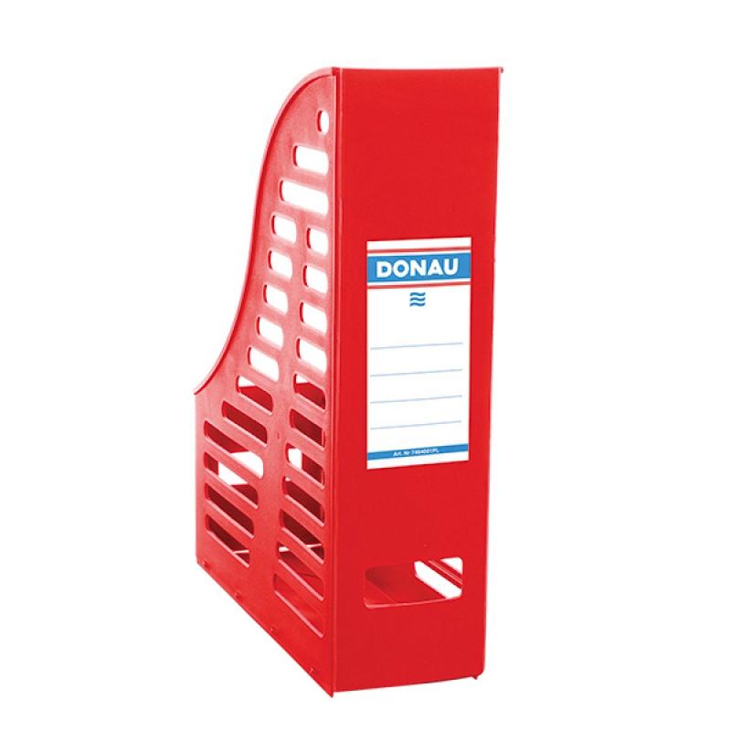 Pojemnik ażurowy na dokumenty DONAU, PP, A4, składany, czerwony, Pojemniki na dokumenty i czasopisma, Archiwizacja dokumentów