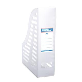 Pojemnik ażurowy na dokumenty DONAU, PP, A4, składany, transparentny biały, Pojemniki na dokumenty i czasopisma, Archiwizacja dokumentów