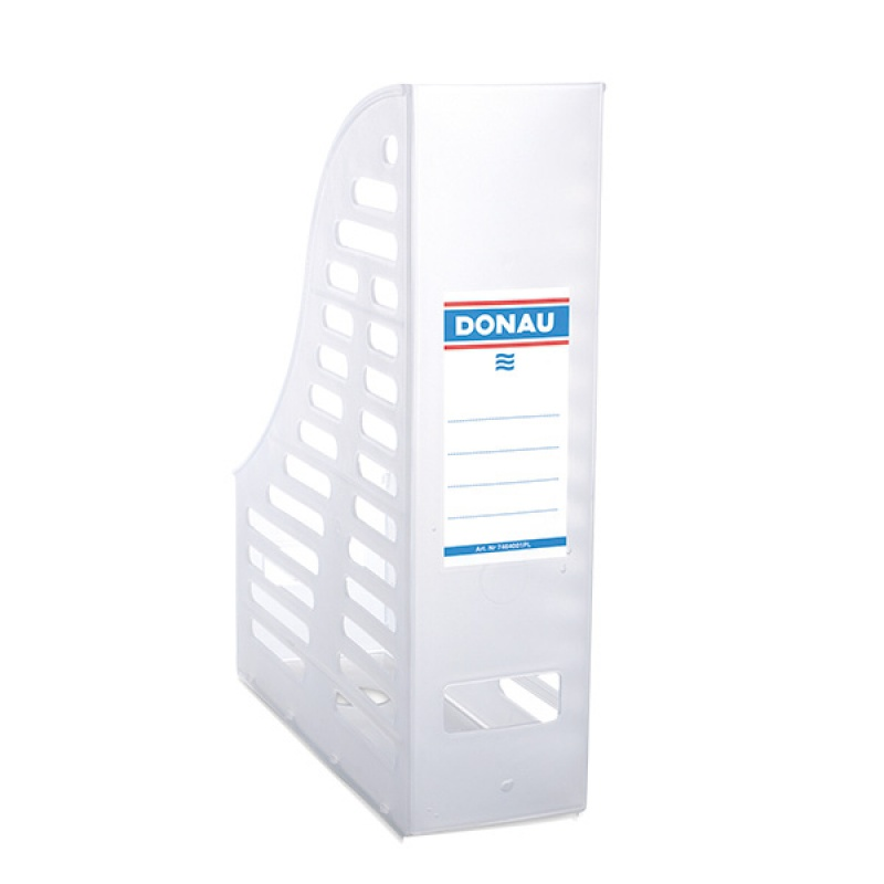 Mesh Magazine File Rack DONAU, PP, A4, transparent white