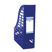 Mesh Magazine File Rack DONAU, PP, A4, foldable, blue