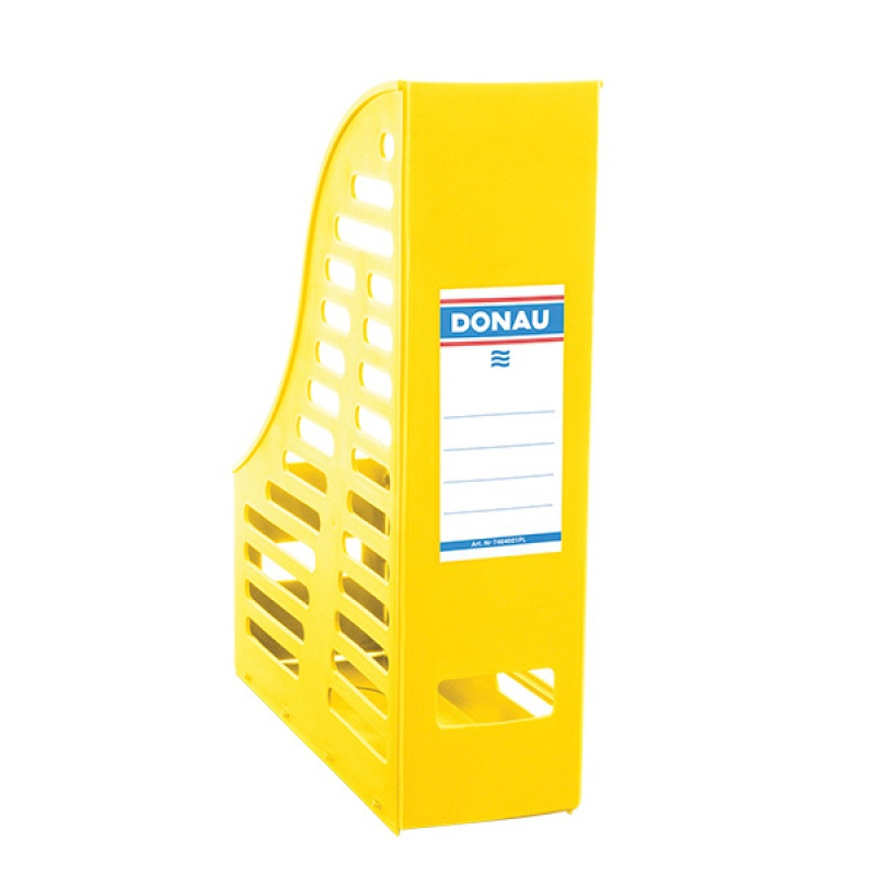 Mesh Magazine File Rack DONAU, PP, A4, foldable, yellow