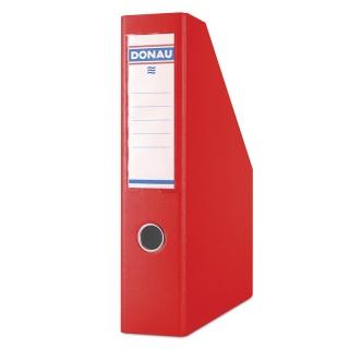 Pojemnik na dokumenty DONAU, PP, A4/75mm, czerwony, Pojemniki na dokumenty i czasopisma, Archiwizacja dokumentów