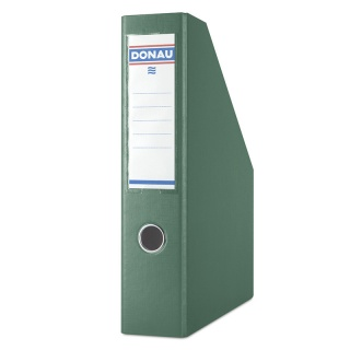Pojemnik na dokumenty DONAU, PP, A4/75mm, zielony, Pojemniki na dokumenty i czasopisma, Archiwizacja dokumentów
