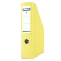 Pojemnik na dokumenty DONAU, PP, A4/75mm, żółty, Pojemniki na dokumenty i czasopisma, Archiwizacja dokumentów
