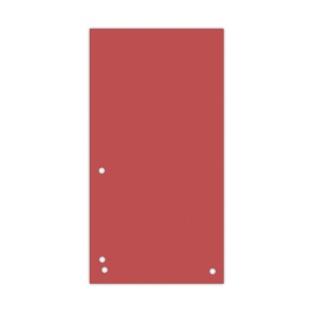 Przekładki DONAU, karton, 1/3 A4, 235x105mm, 100szt., czerwone, Przekładki kartonowe, Archiwizacja dokumentów