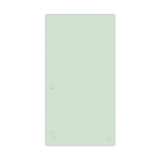Przekładki DONAU, karton, 1/3 A4, 235x105mm, 100szt., zielone, Przekładki kartonowe, Archiwizacja dokumentów