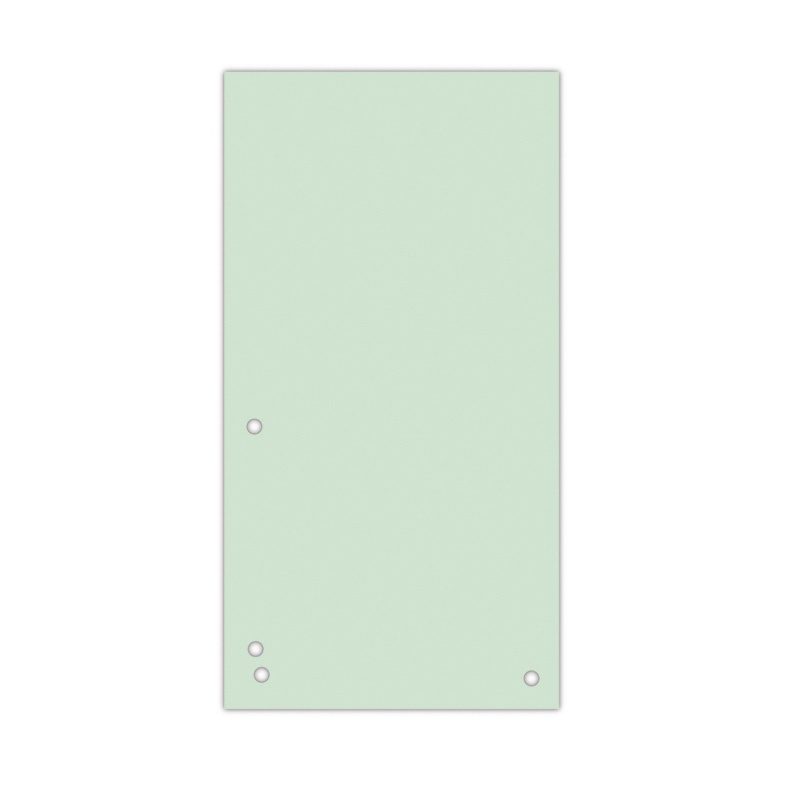Dividers DONAU, cardboard, 1/3 A4, 235x105mm, 100pcs, green
