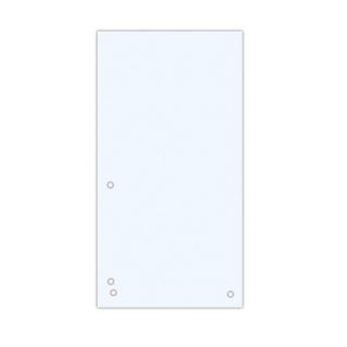 Przekładki DONAU, karton, 1/3 A4, 235x105mm, 100szt., białe, Przekładki kartonowe, Archiwizacja dokumentów