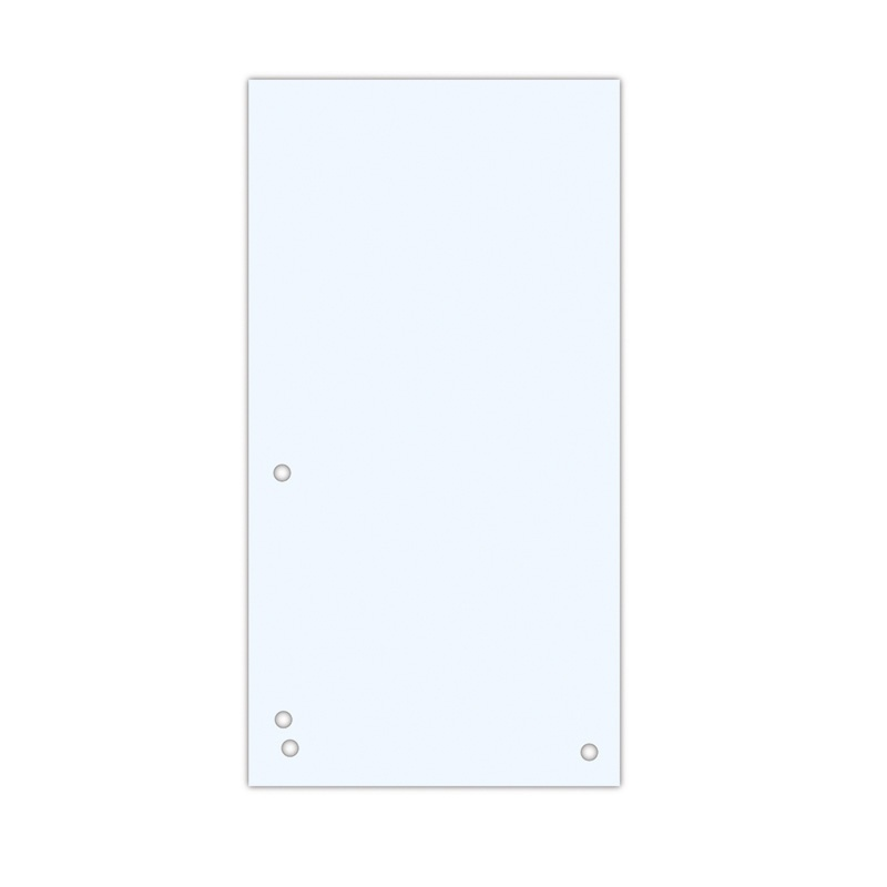 Dividers DONAU, cardboard, 1/3 A4, 235x105mm, 100pcs, white