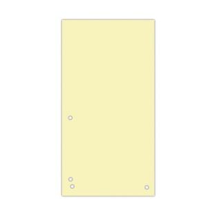 Przekładki DONAU, karton, 1/3 A4, 235x105mm, 100szt., żółte, Przekładki kartonowe, Archiwizacja dokumentów
