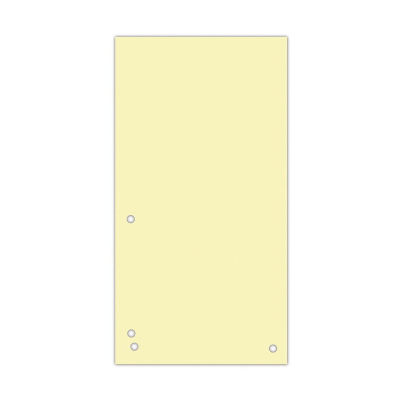Dividers DONAU, cardboard, 1/3 A4, 235x105mm, 100pcs, yellow
