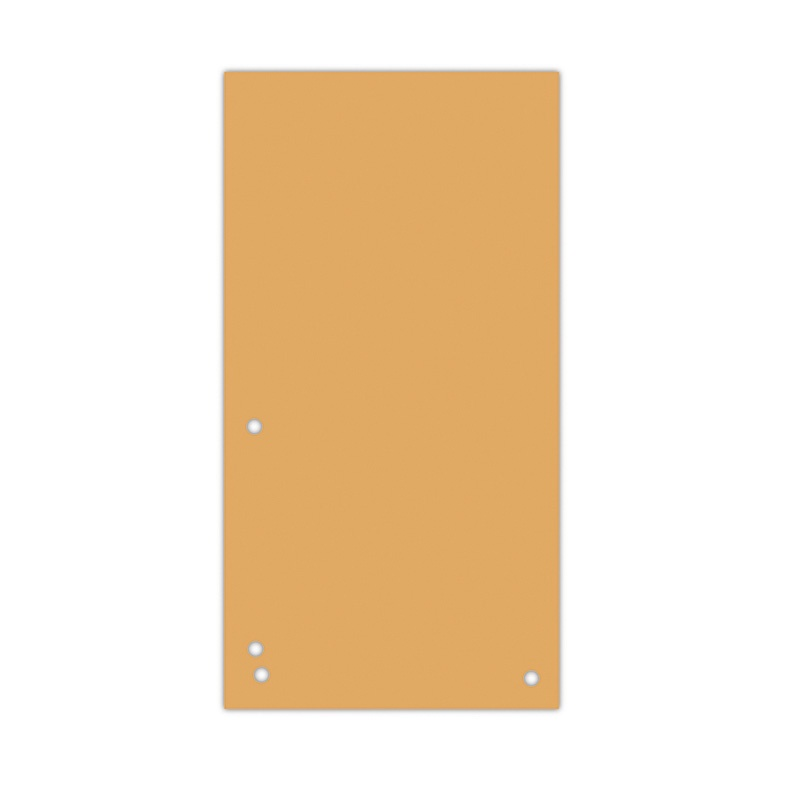 Dividers DONAU, cardboard, 1/3 A4, 235x105mm, 100pcs, orange