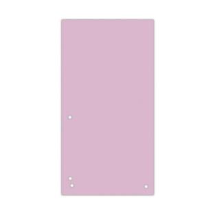 Przekładki DONAU, karton, 1/3 A4, 235x105mm, 100szt., jasnoróżowe, Przekładki kartonowe, Archiwizacja dokumentów