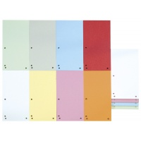 Dividers cardboard 1/3 A4 235x105mm 100pcs assorted colours