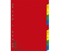 Dividers DONAU, PP, A4, 230x297mm, 1-10, 10 sheets, assorted colours