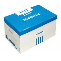 Pojemnik do archiwizacji karton A4 zbiorczy niebieski, Pudła archiwizacyjne, Archiwizacja dokumentów