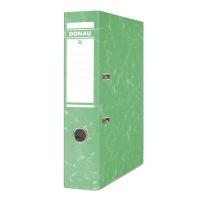 Segregator DONAU Eco, kartonowy, A4/75mm, zielony, Segregatory kartonowe, Archiwizacja dokumentów