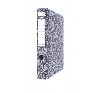 Segregator DONAU Archiv-S z szyną, kartonowy, A4/50mm, szary, Segregatory kartonowe, Archiwizacja dokumentów