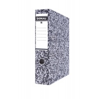 Binder DONAU Archiv-S with reinforced bottom edge, carboard, A4/75mm, grey