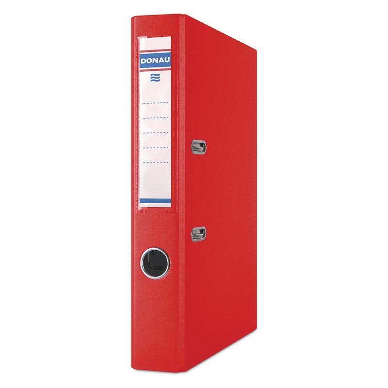 Segregator DONAU Master, PP, A4/50mm, czerwony, Segregatory polipropylenowe, Archiwizacja dokumentów