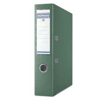 Segregator DONAU Master-S z szyną, PP, A4/75mm, zielony, Segregatory polipropylenowe, Archiwizacja dokumentów