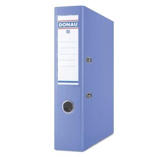 Segregator DONAU Master-S z szyną, PP, A4/75mm, niebieski, Segregatory polipropylenowe, Archiwizacja dokumentów
