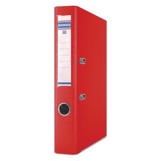 Segregator DONAU Master-S z szyną, PP, A4/50mm, czerwony, Segregatory polipropylenowe, Archiwizacja dokumentów